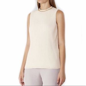EUC {Reiss} blouse with gold chain neckline